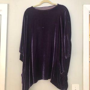 VGUC purple velvet tunic